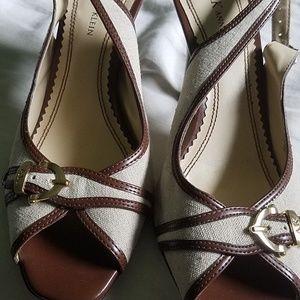 Anne Klein brown & beige 8.5m heels